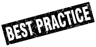 Bollo di best practice Illustrazione di Stock