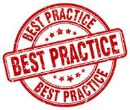 Bollo di best practice Immagine Stock Libera da Diritti