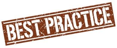 Bollo di best practice Fotografia Stock Libera da Diritti