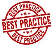 Bollo di best practice Illustrazione Vettoriale