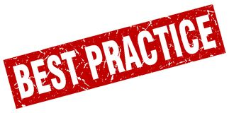 Bollo di best practice Immagini Stock Libere da Diritti