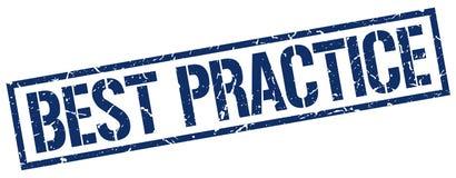 Bollo di best practice Fotografie Stock Libere da Diritti