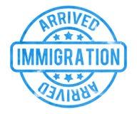 Bollo di immigrazione illustrazione di stock
