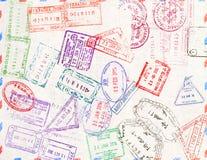 Bollo di immigrazione Bolli del passaporto Fotografia Stock Libera da Diritti