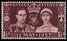 Bollo di incoronazione del re George VI Fotografia Stock