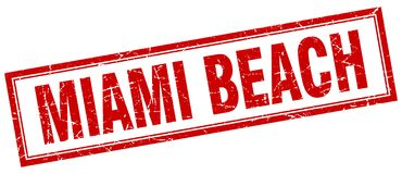 Bollo di Miami Beach Illustrazione di Stock