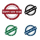 Bollo di nuovo anno felice Fotografia Stock Libera da Diritti