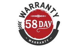 bollo di progettazione dell'illustrazione della garanzia da 58 giorni illustrazione di stock