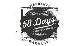 bollo di progettazione della garanzia da 58 giorni illustrazione vettoriale