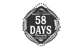 bollo di progettazione della garanzia da 58 giorni royalty illustrazione gratis