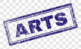 Bollo di rettangolo di ARTI di lerciume illustrazione di stock