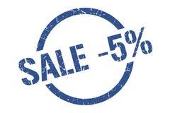 bollo di vendita -5% illustrazione vettoriale