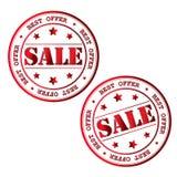 Bollo di vendita Immagine di vettore Fotografia Stock