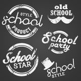 Bollo ed etichetta di vettore della scuola Fotografia Stock Libera da Diritti
