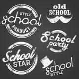 Bollo ed etichetta di vettore della scuola Immagine Stock Libera da Diritti