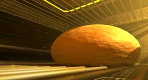 Bollo en Oven Closeup Imagen de archivo