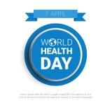 Bollo globale di festa di giorno del mondo di salute del pianeta della terra Fotografia Stock Libera da Diritti