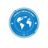 Bollo globale di festa di giorno del mondo di salute del pianeta della terra Fotografie Stock Libere da Diritti