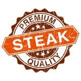 Bollo grungy della bistecca royalty illustrazione gratis
