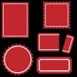 Bollo impostato - colore rosso Immagini Stock
