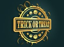 Bollo inciso con il testo di Halloween Immagine Stock Libera da Diritti