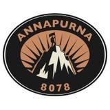 Bollo o emblema con testo Annapurna royalty illustrazione gratis