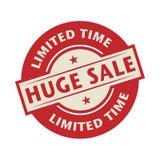 Bollo o etichetta con la vendita enorme del testo, tempo limitato illustrazione di stock