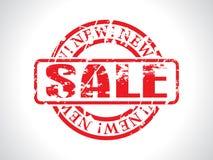 Bollo rosso astratto di vendita con grunge Immagini Stock Libere da Diritti