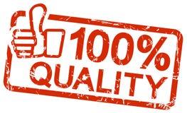 bollo rosso con qualità 100% del testo Immagini Stock