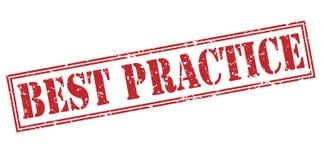 Bollo rosso di best practice Fotografia Stock Libera da Diritti