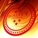 Bollo rosso di controllo di qualità Fotografia Stock Libera da Diritti