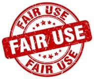 Bollo rosso di fair use Immagine Stock Libera da Diritti