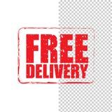 Bollo rosso di lerciume di consegna gratuita illustrazione vettoriale