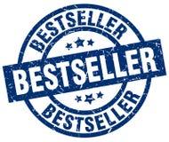 Bollo rotondo blu del bestseller Immagine Stock Libera da Diritti