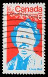 Bollo stampato dal Canada, manifestazioni Louis Riel Immagini Stock