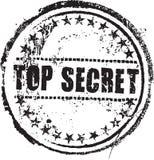 Bollo top-secret Immagini Stock Libere da Diritti