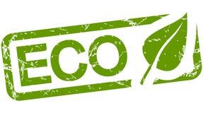 bollo verde con testo ECO Fotografie Stock