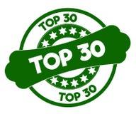 Bollo verde del PRINCIPALE 30 Fotografia Stock Libera da Diritti