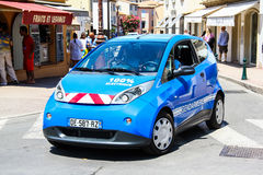 Bollore Bluecar Royalty Free Stock Images