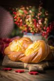 Bollos dulces con queso imagen de archivo