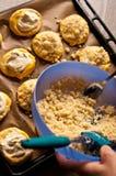Bollos hechos en casa del queso Foto de archivo libre de regalías