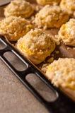 Bollos hechos en casa del queso Imagen de archivo libre de regalías