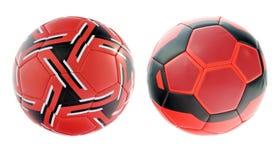 bollredfotboll Arkivbild