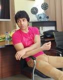 Bollywood aktor Vik Khanna prowadzi warsztat na ekranowym robić przy MFDC w Floréal Mauritius obrazy royalty free