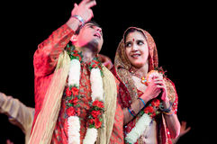 Bollywood ankommer till Barcelona med musikalen royaltyfria bilder