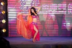 Bollywood brzucha tana pierwszy chybienie Jiangxi Międzynarodowy konkurs Obraz Stock