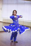 Bollywood dancer. In dance studio Royalty Free Stock Image