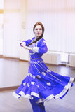 Bollywood dancer. Portrait of  bollywood dancer in dance studio Stock Images