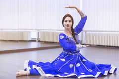 Bollywood dancer. Portrait of  bollywood dancer in dance studio Royalty Free Stock Images
