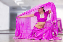 Bollywood dancer. Portrait of  bollywood dancer in dance studio Royalty Free Stock Photos
